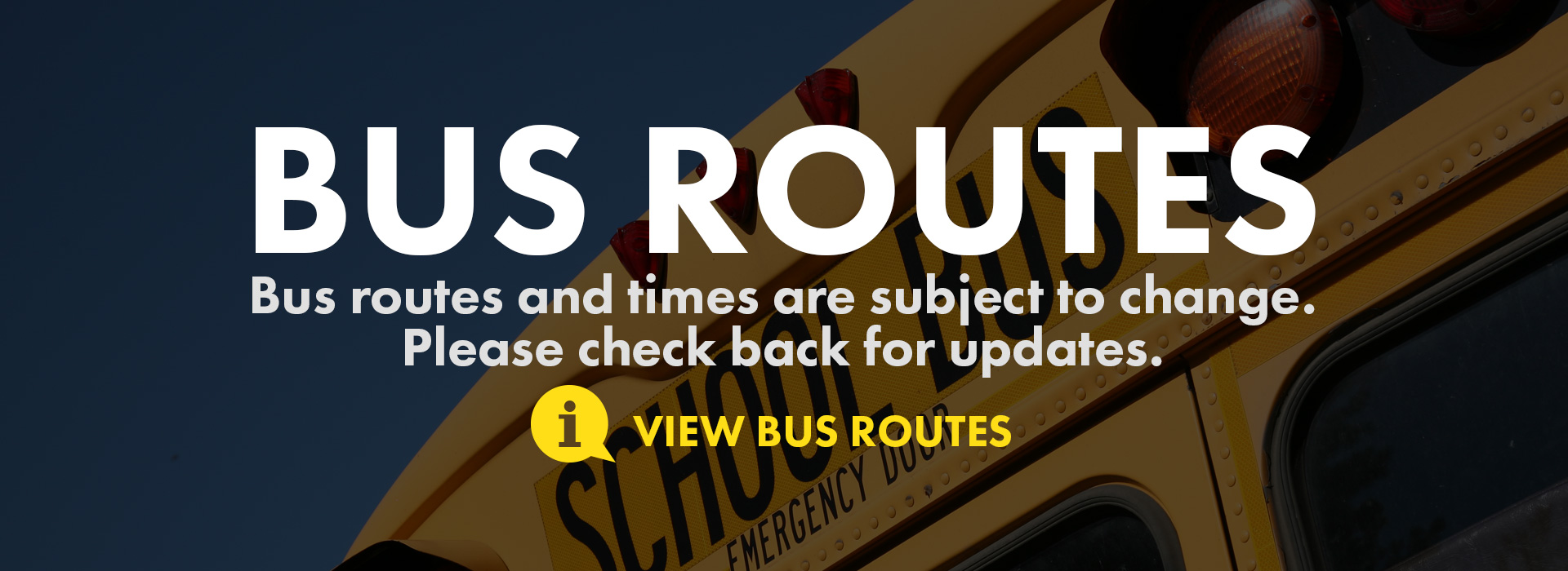 bus routes and times