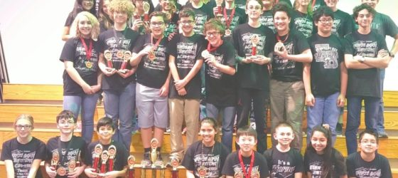 image Flour Bluff Math Science Team at TMSCA state qualifying competition