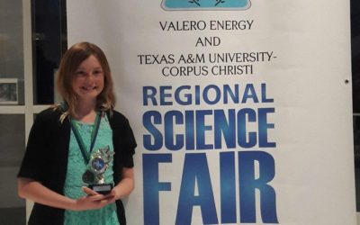image Taylor Blades Intermediate 6th Grader competing at state science fair
